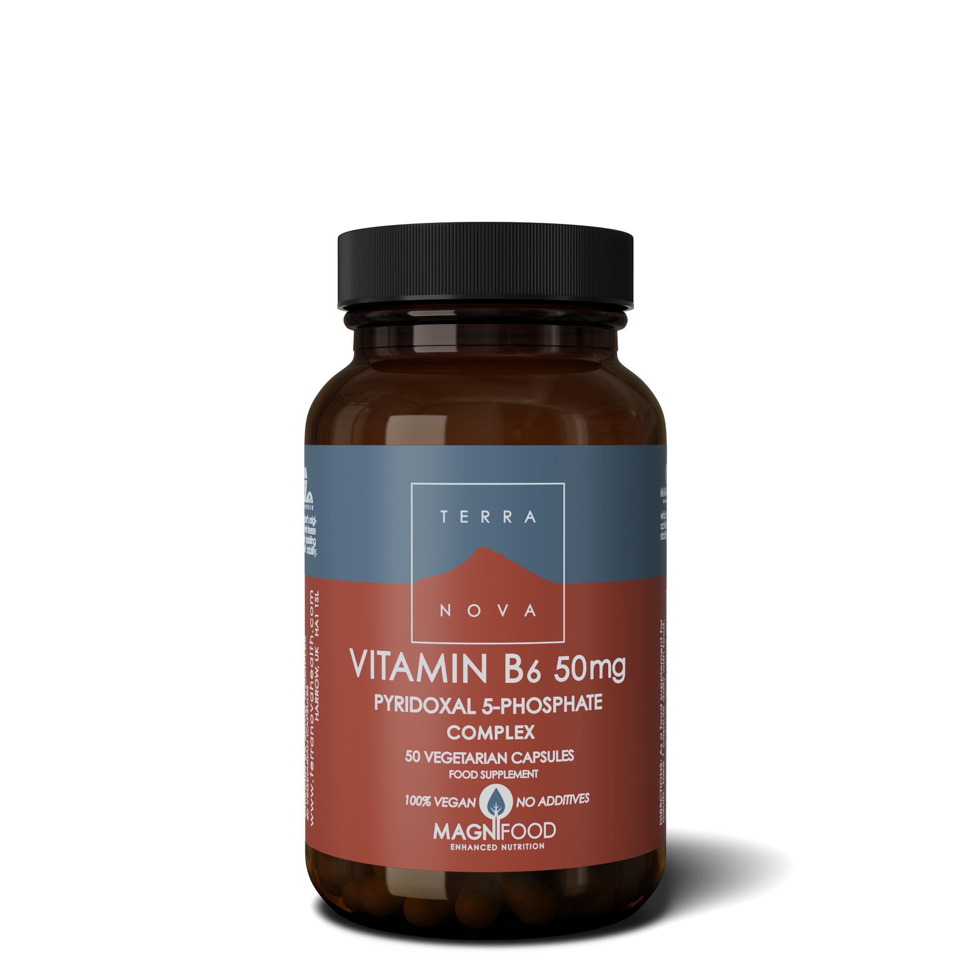 Vitamiin B6 (P5-P) 50 kaps, Terranova (Vegan)