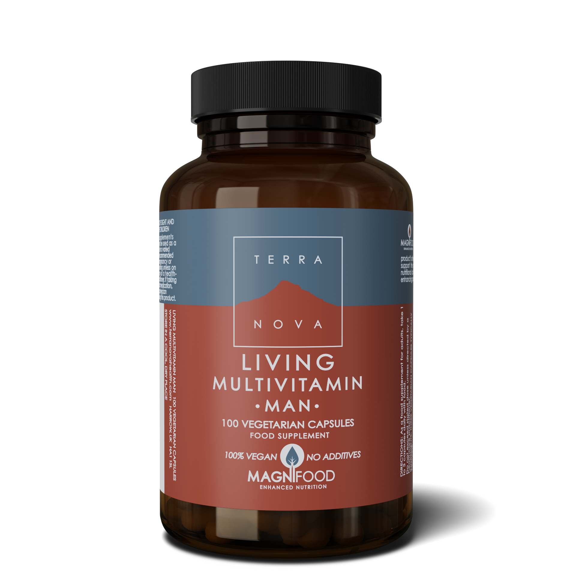 Living Multivitamin MAN 100kaps, Terranova (Vegan)